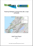 Restoring Wellington's Transport Links After a Major Earthquake, 2013
