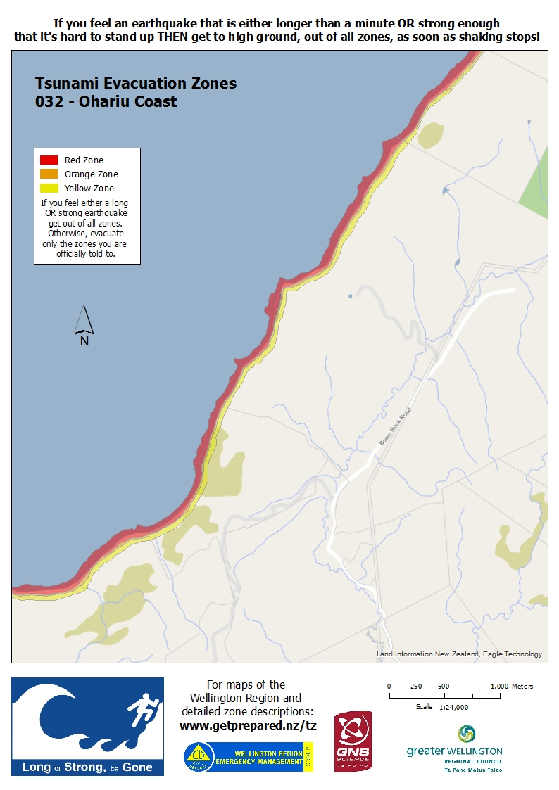 WREMO Tsunami evacuation zones Wellington City